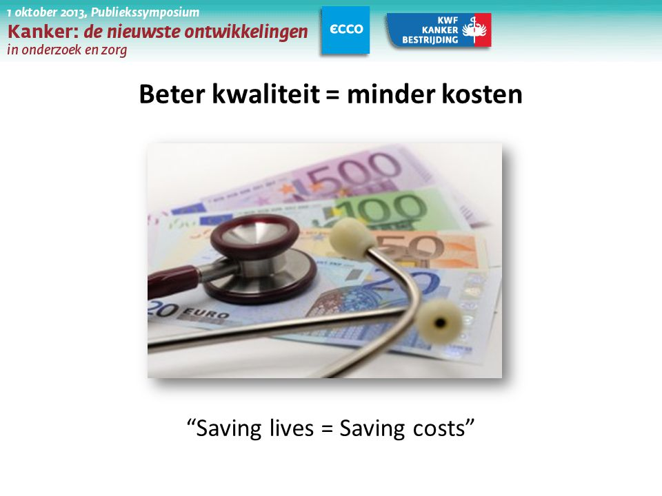 Beter kwaliteit = minder kosten