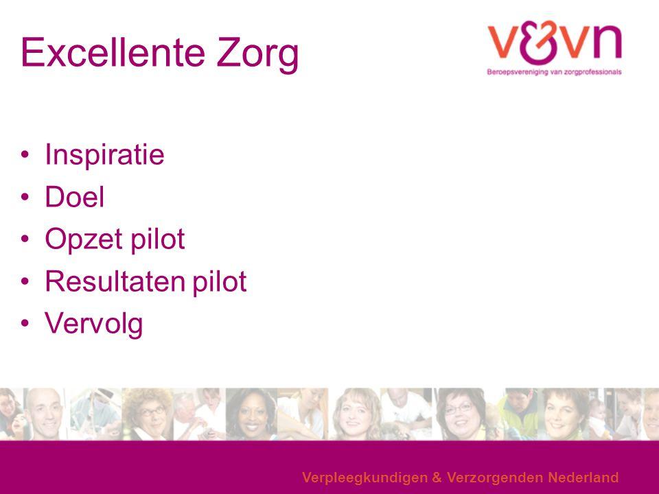 Excellente Zorg Inspiratie Doel Opzet pilot Resultaten pilot Vervolg