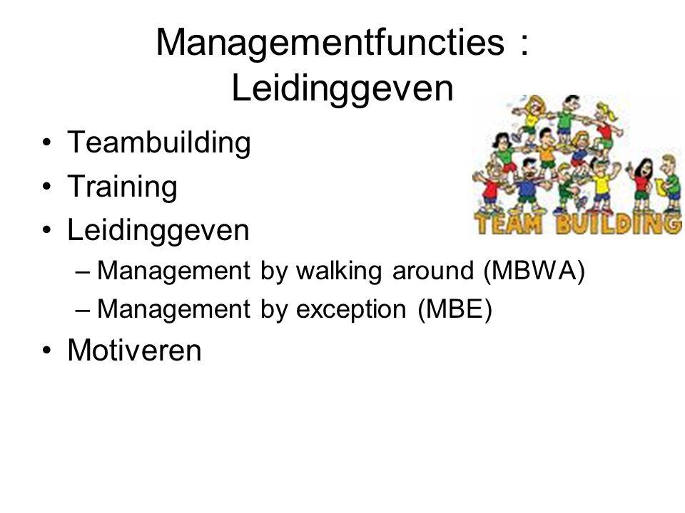 Managementfuncties : Leidinggeven