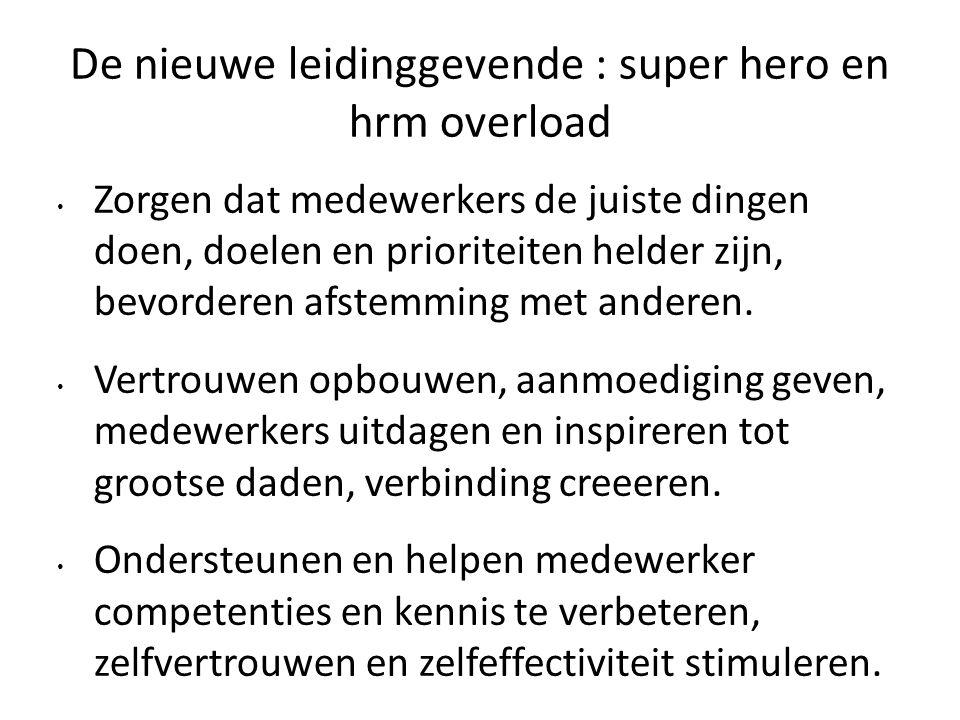 De nieuwe leidinggevende : super hero en hrm overload