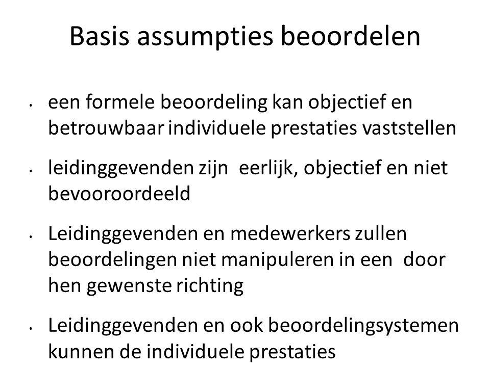 Basis assumpties beoordelen