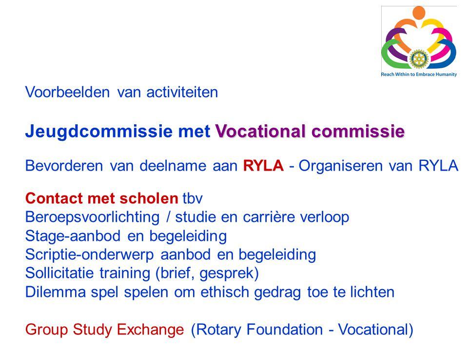 Jeugdcommissie met Vocational commissie