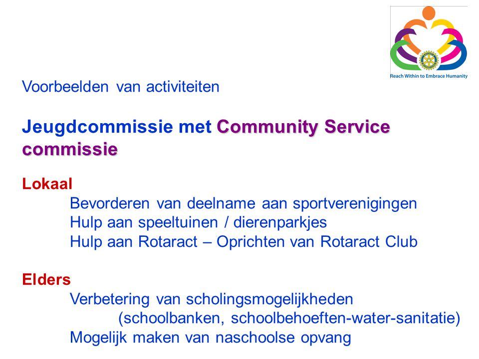 Jeugdcommissie met Community Service commissie