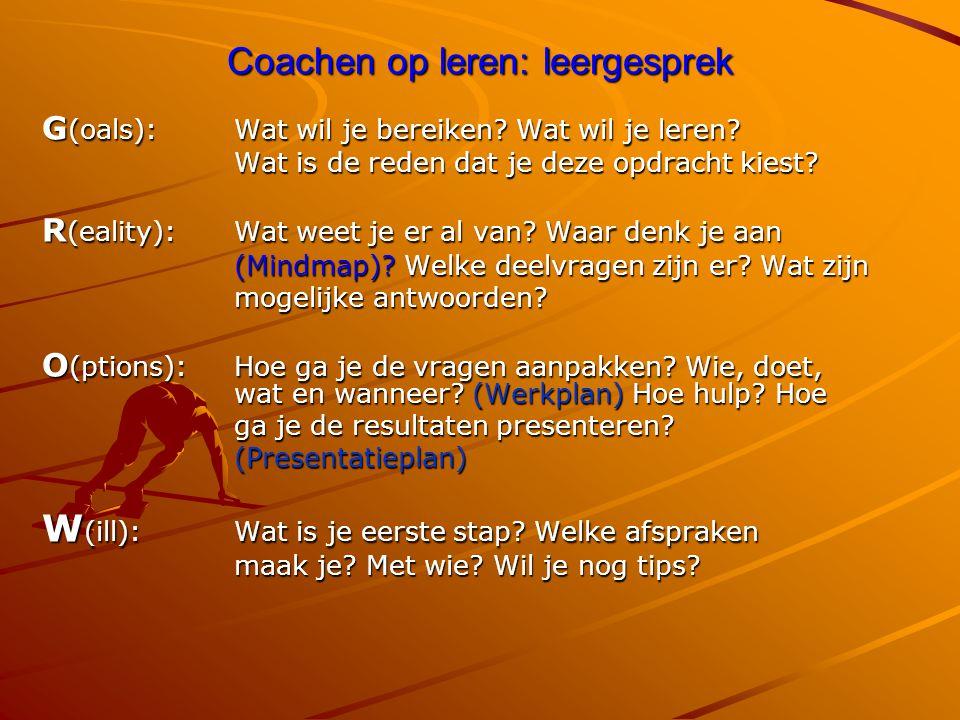 Coachen op leren: leergesprek