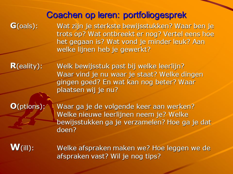 Coachen op leren: portfoliogesprek