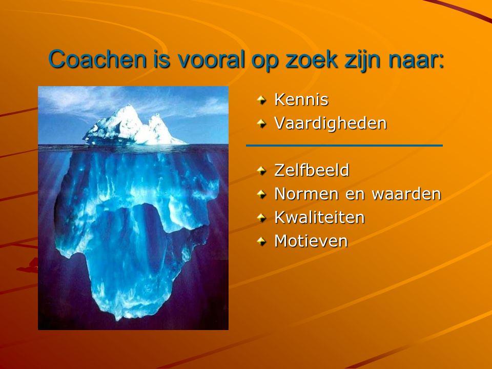 Coachen is vooral op zoek zijn naar: