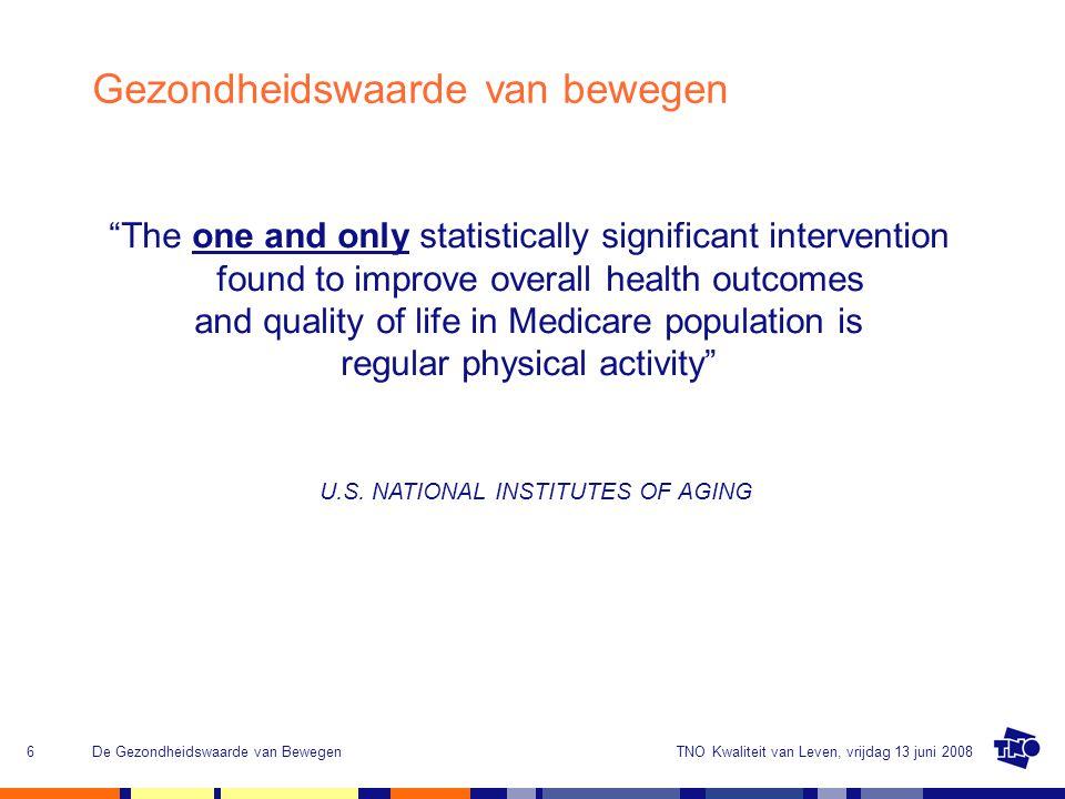 Gezondheidswaarde van bewegen