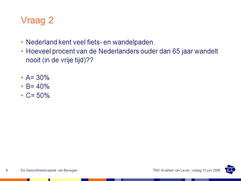 Vraag 2 Nederland kent veel fiets- en wandelpaden.