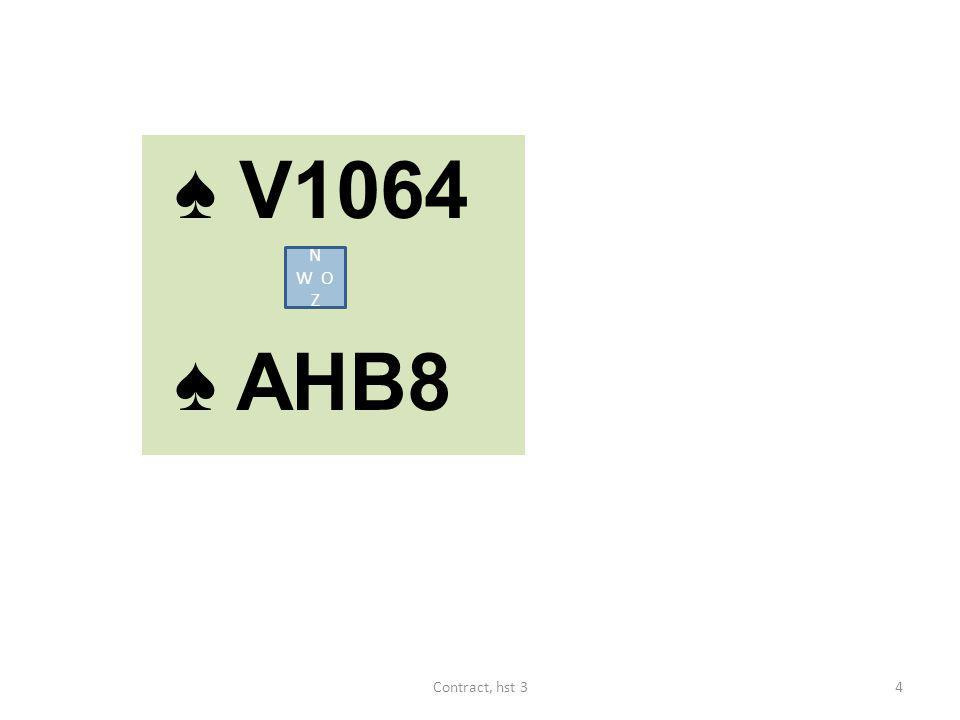 ♠ V1064 ♠ AHB8 N W O Z Contract, hst 3