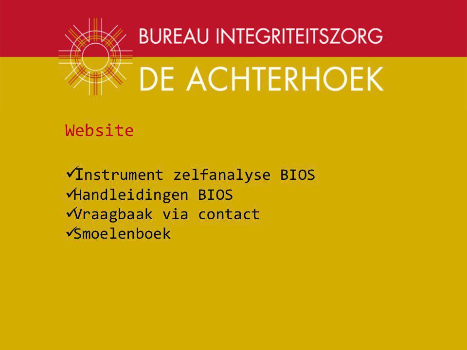 Instrument zelfanalyse BIOS