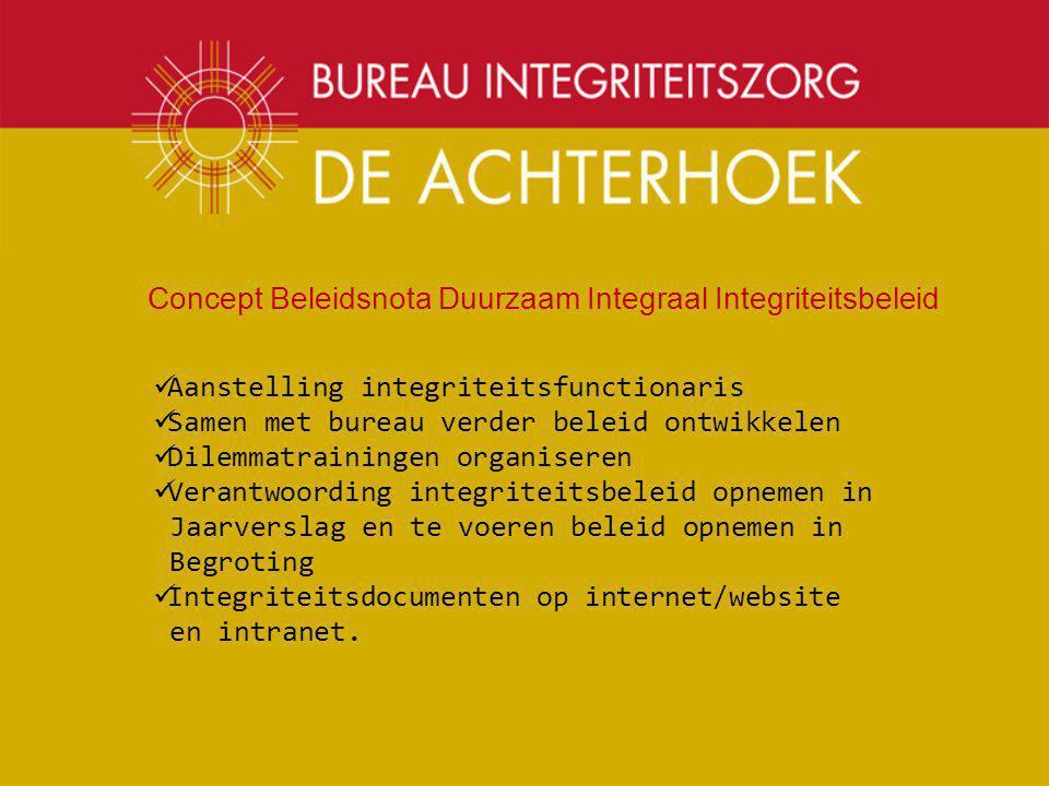 Concept Beleidsnota Duurzaam Integraal Integriteitsbeleid