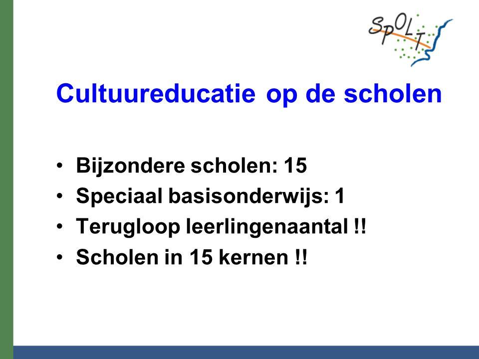 Cultuureducatie op de scholen