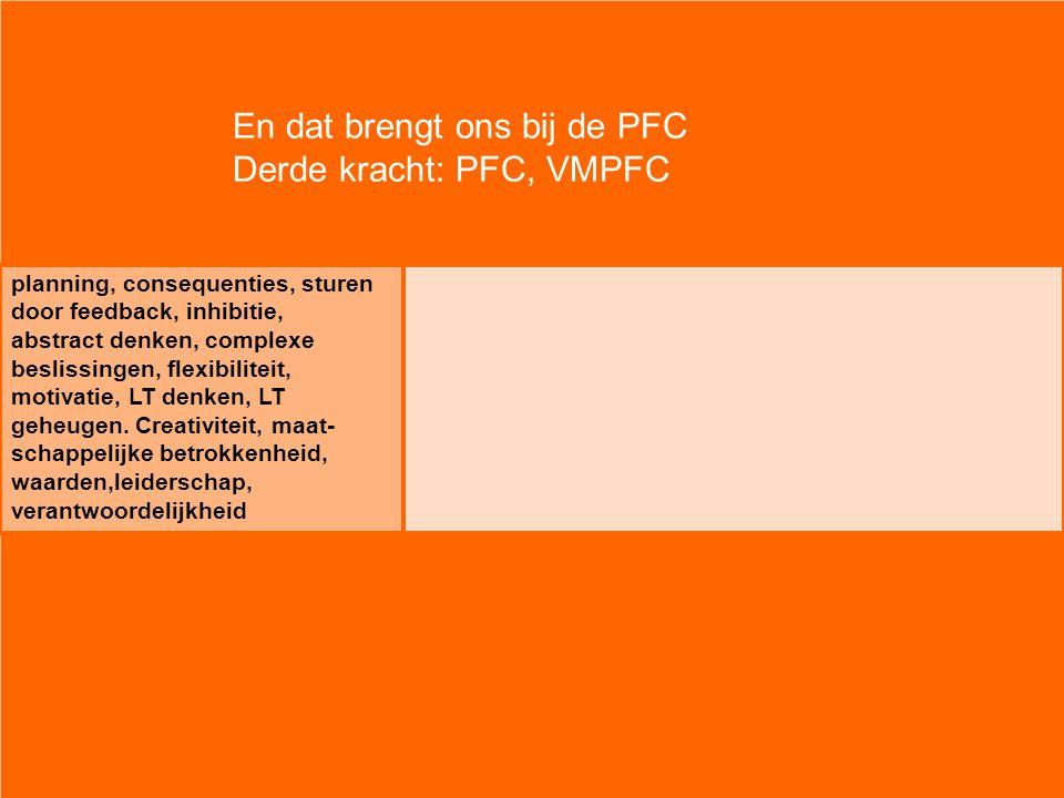 En dat brengt ons bij de PFC Derde kracht: PFC, VMPFC