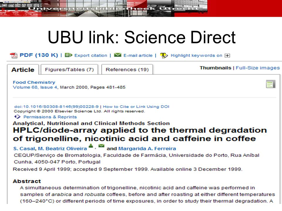 UBU link: Science Direct