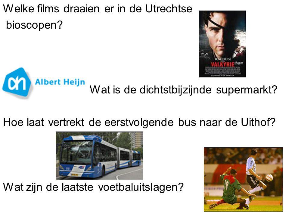 Welke films draaien er in de Utrechtse