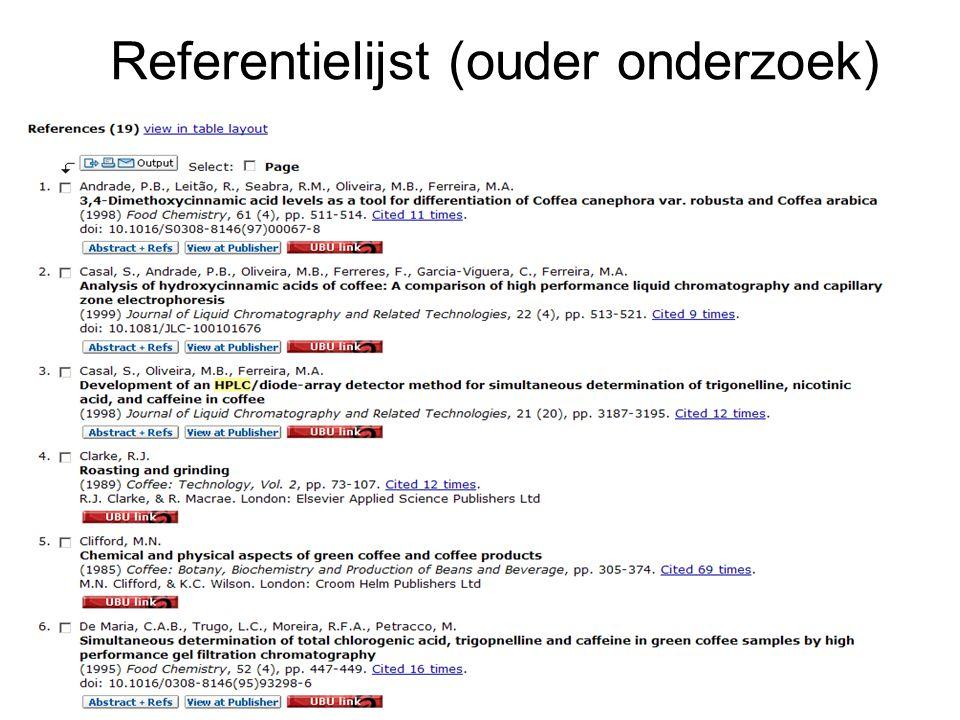 Referentielijst (ouder onderzoek)