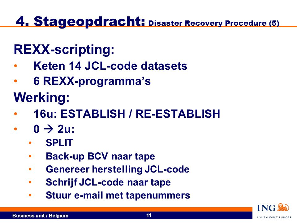 4. Stageopdracht: Disaster Recovery Procedure (5)