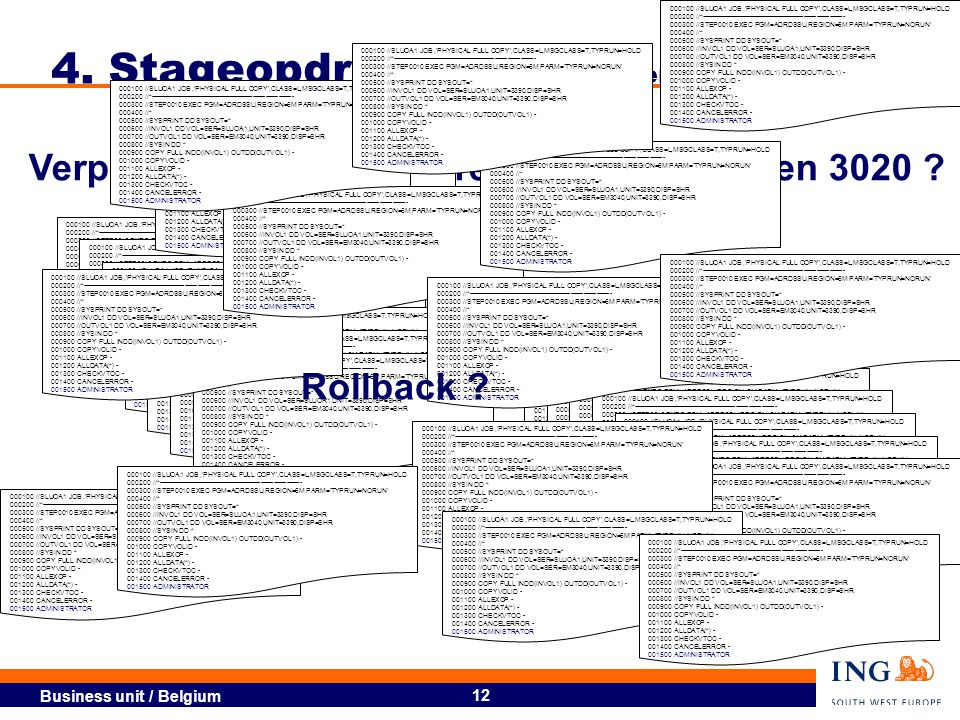 4. Stageopdracht: Volume movement (1)