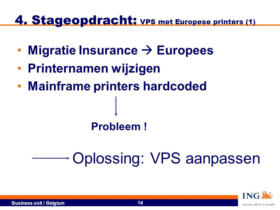 4. Stageopdracht: VPS met Europese printers (1)