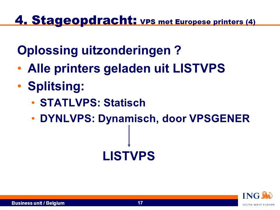 4. Stageopdracht: VPS met Europese printers (4)