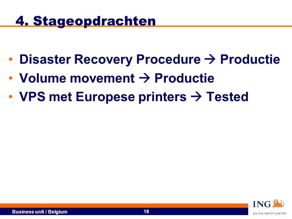 4. Stageopdrachten Disaster Recovery Procedure  Productie.
