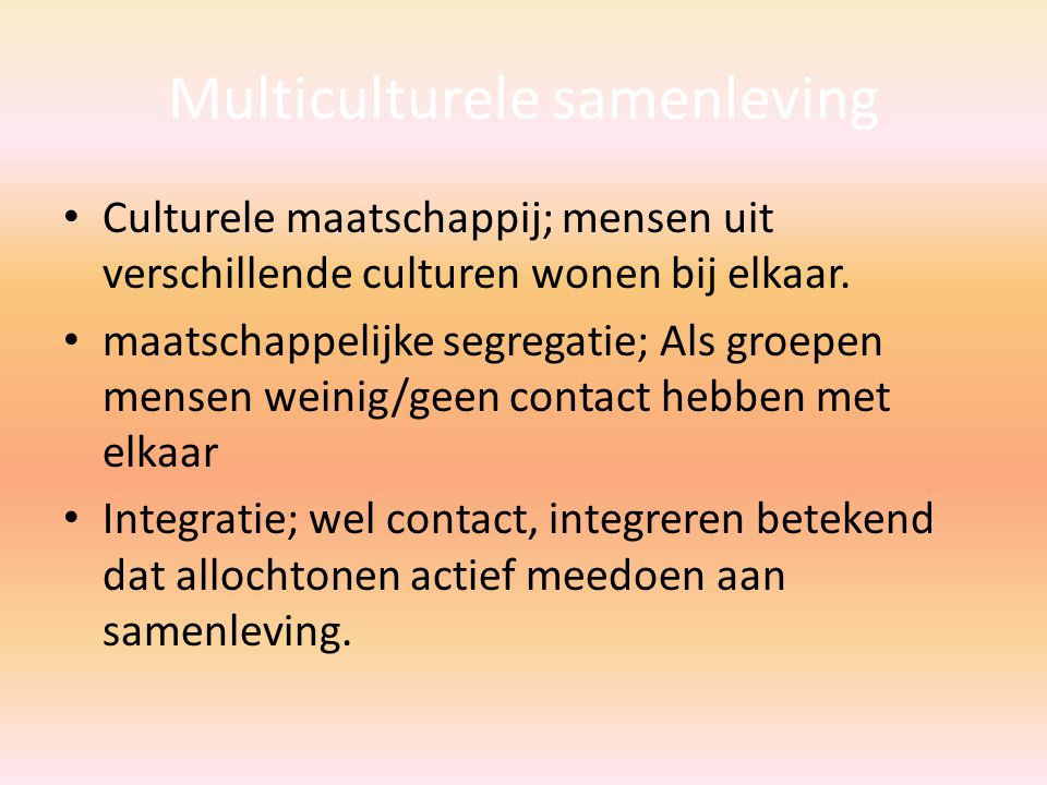 Multiculturele samenleving