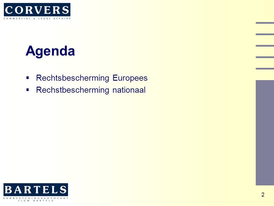 Agenda Rechtsbescherming Europees Rechstbescherming nationaal