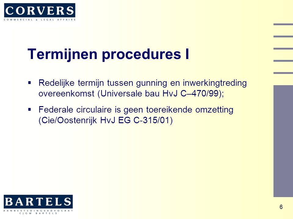 Termijnen procedures I