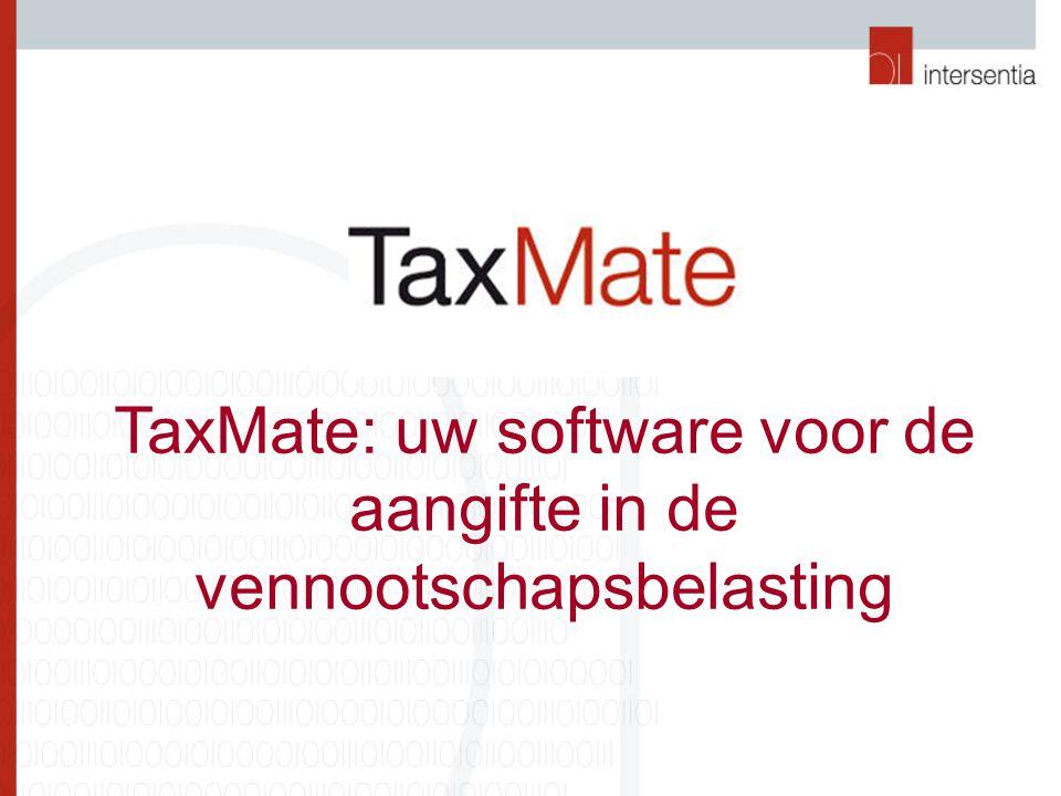 TaxMate: uw software voor de aangifte in de vennootschapsbelasting