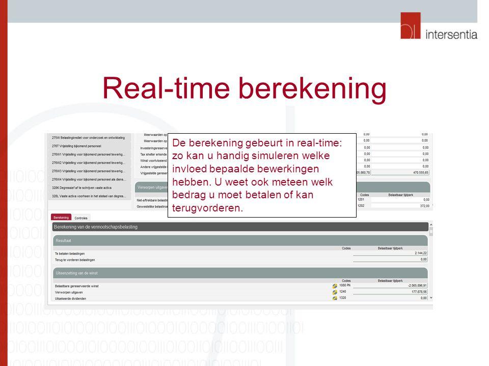 Real-time berekening