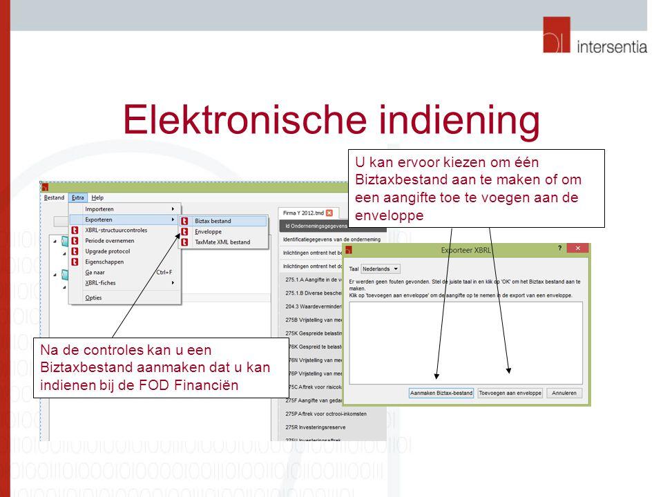 Elektronische indiening