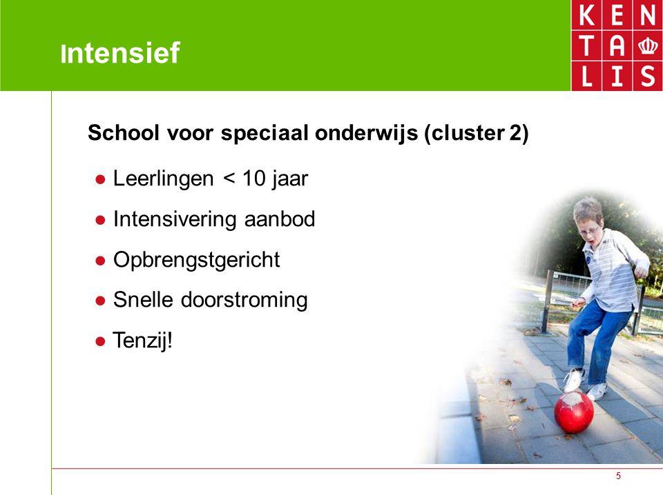 Intensief School voor speciaal onderwijs (cluster 2)