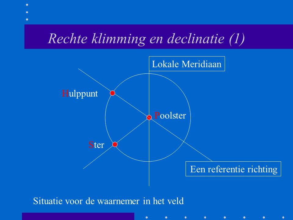 Rechte klimming en declinatie (1)