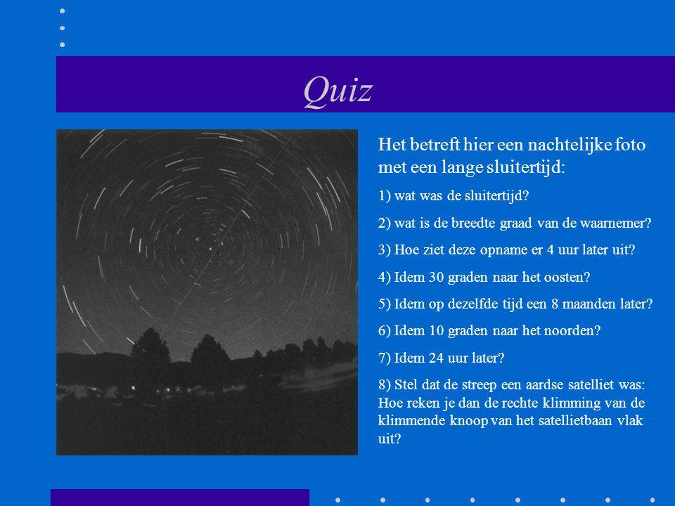 Quiz Het betreft hier een nachtelijke foto met een lange sluitertijd: