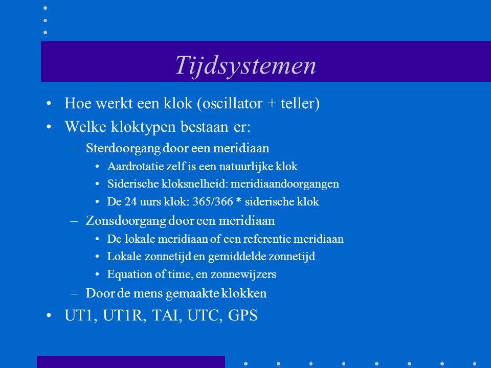 Tijdsystemen Hoe werkt een klok (oscillator + teller)