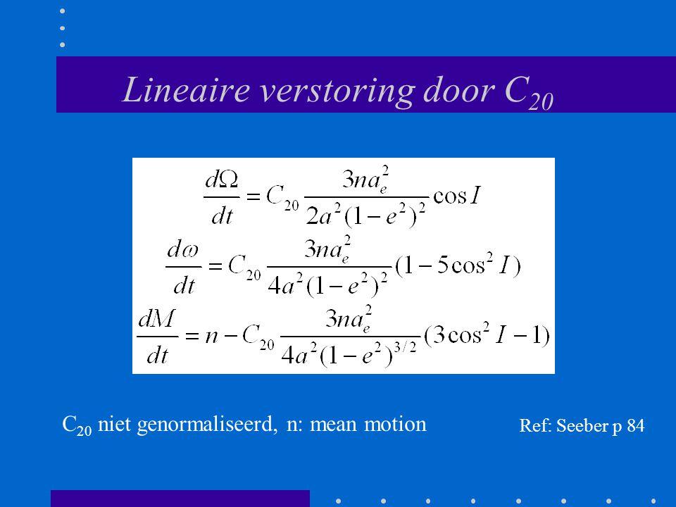 Lineaire verstoring door C20