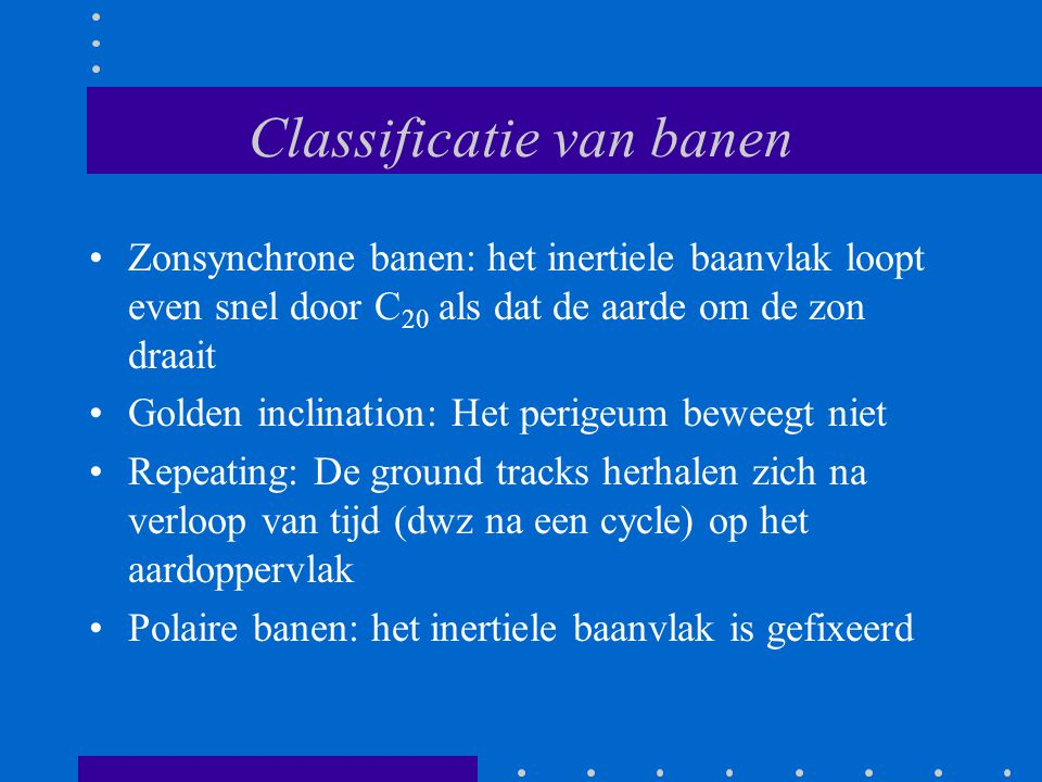 Classificatie van banen