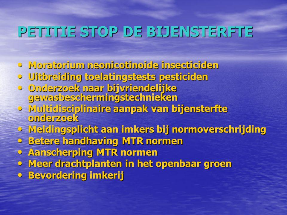 PETITIE STOP DE BIJENSTERFTE