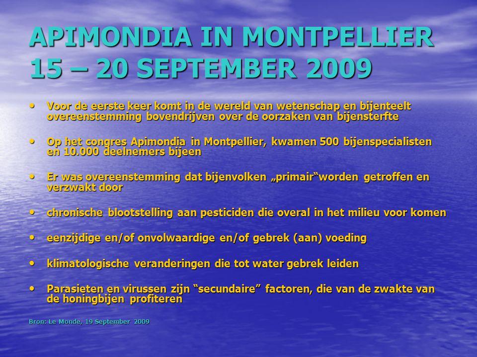 APIMONDIA IN MONTPELLIER 15 – 20 SEPTEMBER 2009