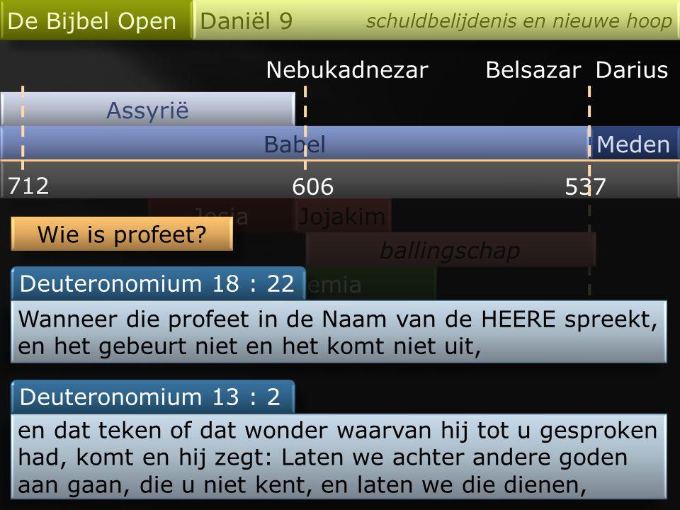 De Bijbel Open Daniël 9 Nebukadnezar Belsazar Darius Assyrië Babel