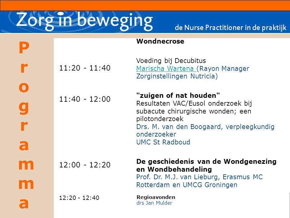 11:20 - 11:40 11:40 - 12:00 12:00 - 12:20 Wondnecrose