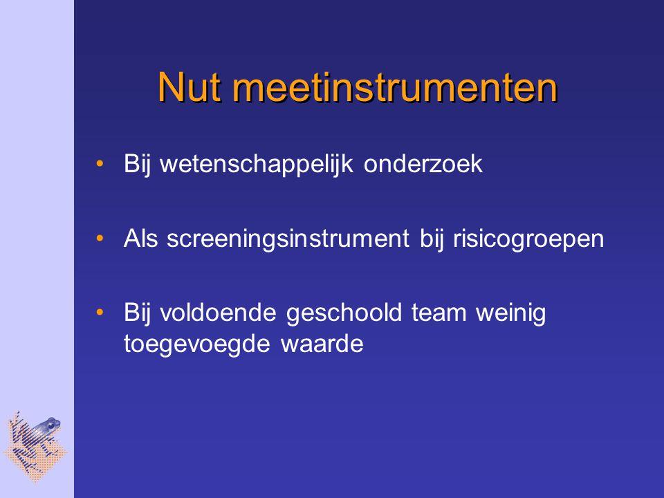 Nut meetinstrumenten Bij wetenschappelijk onderzoek