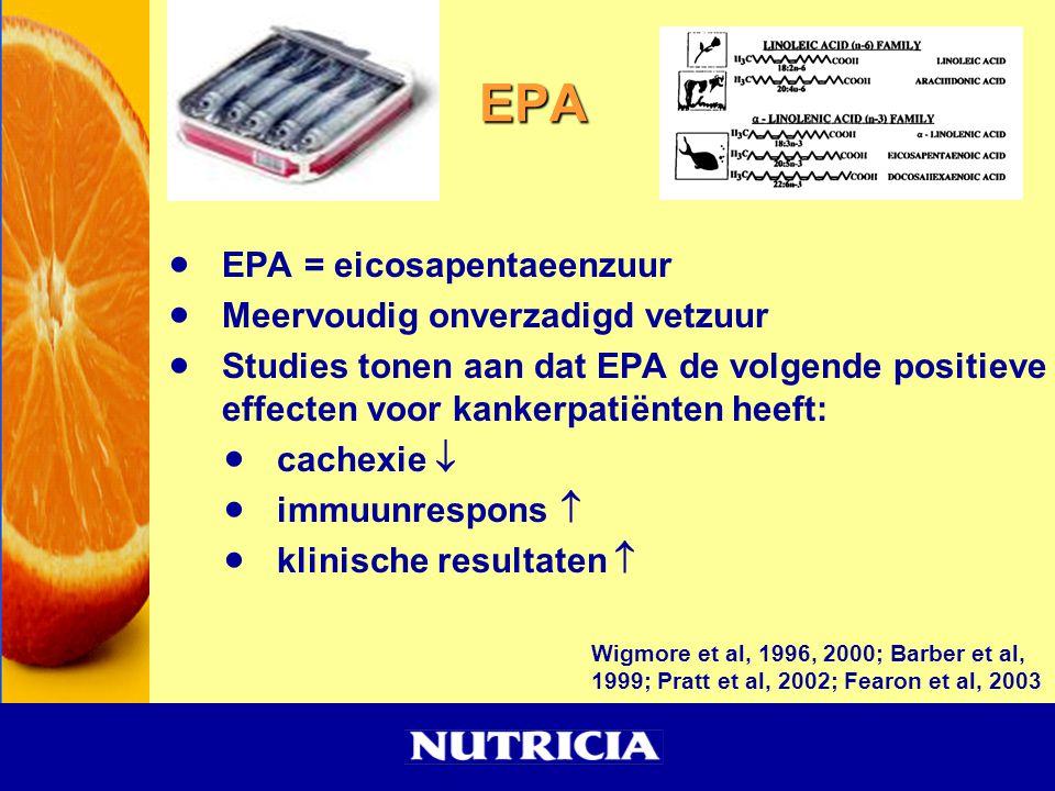 EPA EPA = eicosapentaeenzuur Meervoudig onverzadigd vetzuur