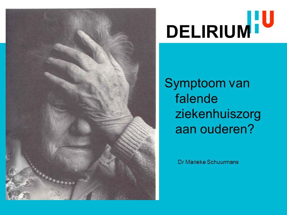 Symptoom van falende ziekenhuiszorg aan ouderen
