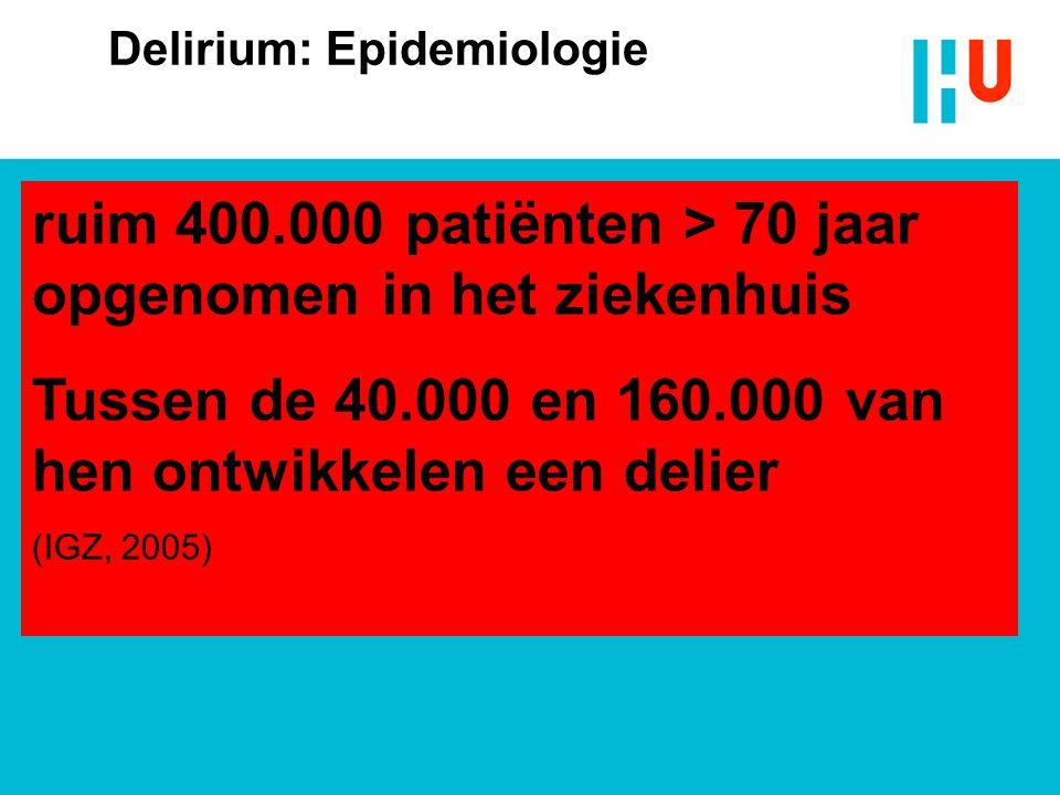 Delirium: Epidemiologie