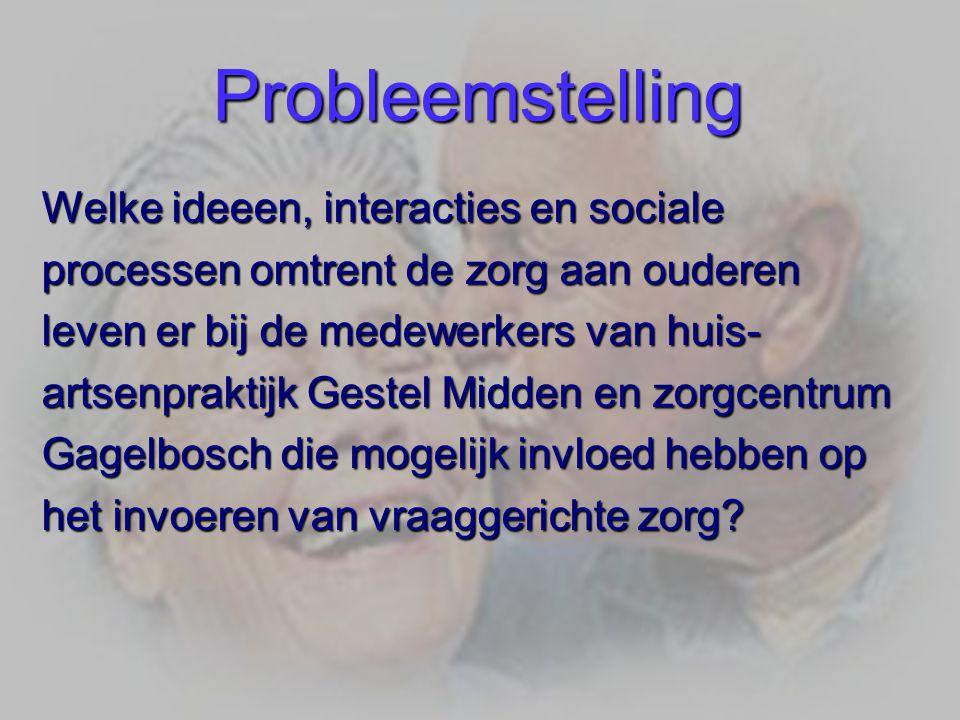 Probleemstelling Welke ideeen, interacties en sociale