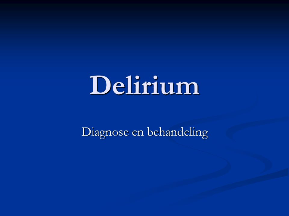 Diagnose en behandeling