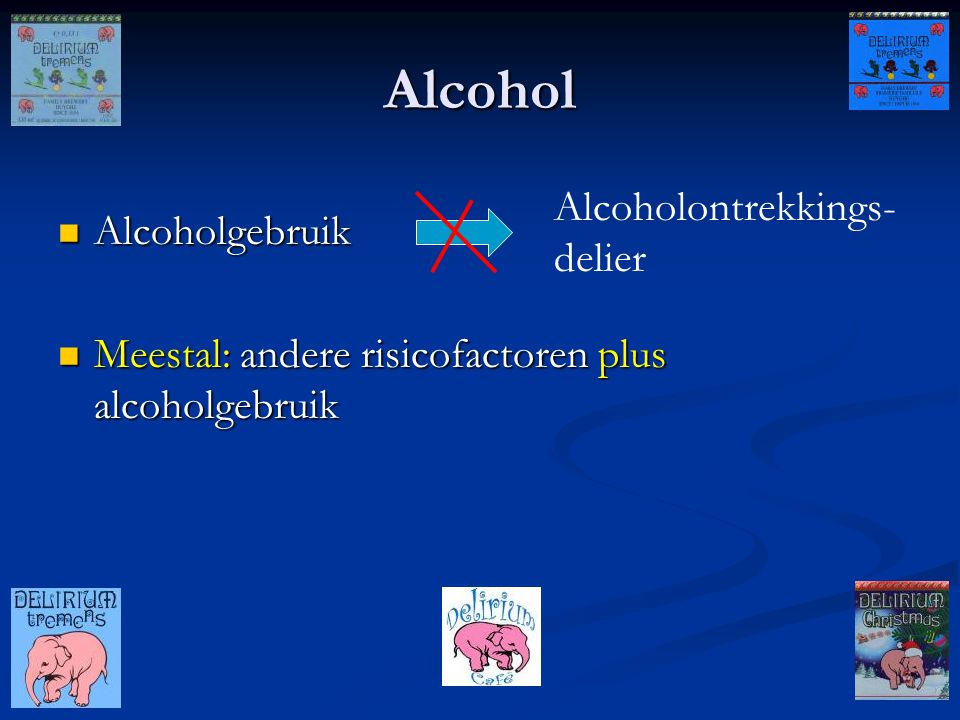 Alcohol Alcoholontrekkings-delier Alcoholgebruik