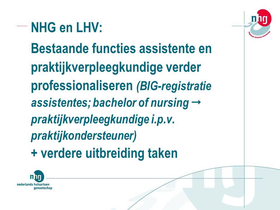 Bestaande functies assistente en praktijkverpleegkundige verder
