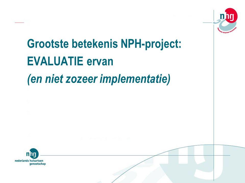 Grootste betekenis NPH-project: